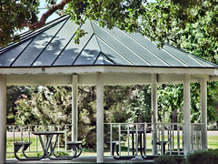 backyard, outdoor structure, canopy, roof, pergola, pavilion, gazebo,