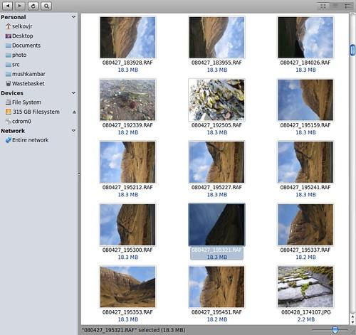 Raw camera, Raw file storage