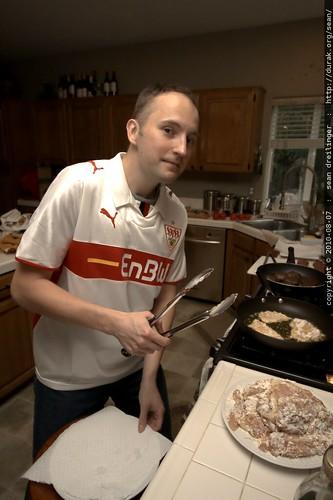 schnitzel chef james