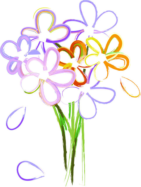 free clipart bouquet of flowers - photo #14