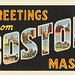 Greetings From Boston: Vintage Postcards