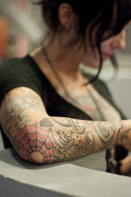 Spiderweb tattoos a gallery on flickr for Tattoo expo seattle