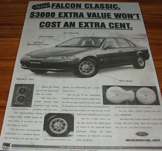 1995 Ford EF Falcon Classic Limited Edition Ad