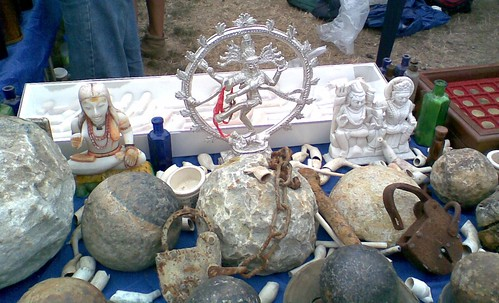 Artefacts on the Thames and Field table at Hall Place