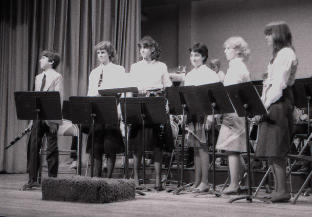 84_11.14a - The Middle School Band, Front Row