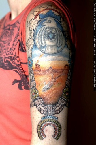new detail and color in the navajo tattoo