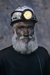 Coal Miner with White Beard, Pol i Khumri, Afghanistan, 2002, by Steve McCurry