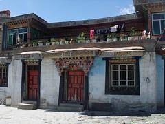 maison tibétaine à Yongbulakang