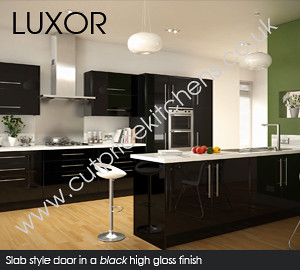Luxor Gloss Black Kitchen Cabinets | Flickr - Photo Sharing!