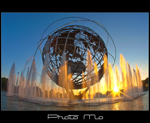 Unisphere Fountain @ Sunrise