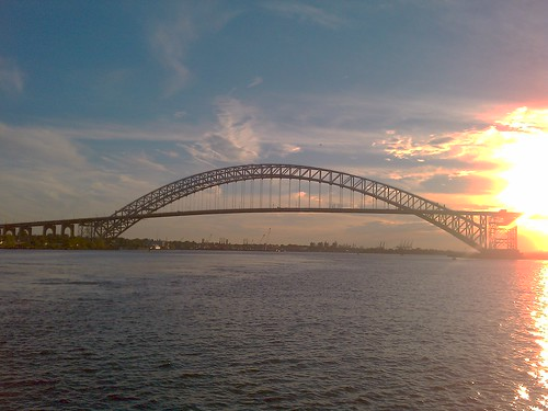 Sunset at Bayonne Bridge
