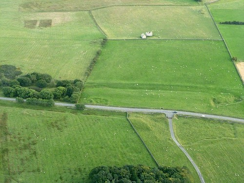 Milecastle 24 from the air