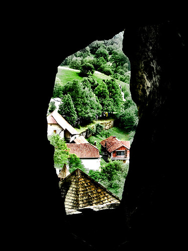 castle view slovenia postumia predjama