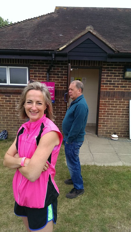 Nicky Hack - a dedicated & industrious Event Director of Guildford Parkrun. Morning hun!!