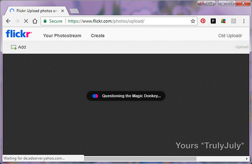 Furthermore, Flickr keeps you entertained while waiting for their page to load: