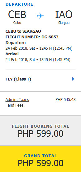 Cebu to Siargao February Promo