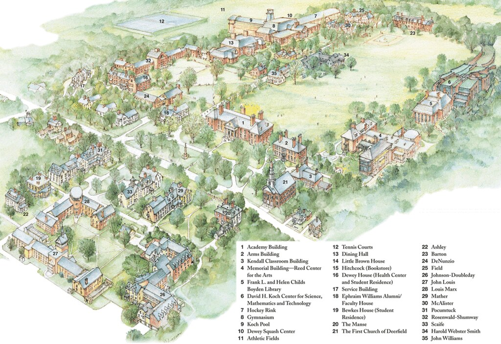 Deerfield Academy Campus Map Deerfield Academy Flickr