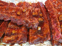 lechon(0.0), spare ribs(1.0), ribs(1.0), pork ribs(1.0), goat meat(1.0), food(1.0), dish(1.0), cuisine(1.0),