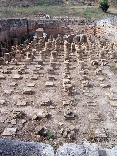 Hypocausts, Roman Bath House, Ancient Isthmia
