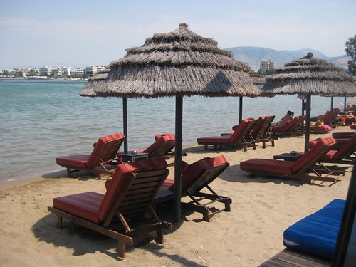 Balux Cafe beach in Glyfada