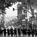 Riot Police Hold Line at 15th and Broadway, Oakland Riots, 2010 by Thomas Hawk
