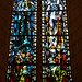 Amboise - Catholic church - Stained glass windows - N.D. de Pontmain and N.D. Pellevoisin by Monceau