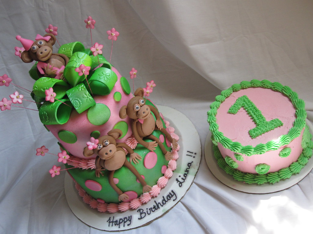 Monkey 1st Birthday Cake A Photo On Flickriver