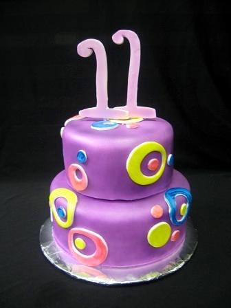 Girls 11th Birthday Cakes