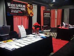 The Pink Cross Booth pre-convention.