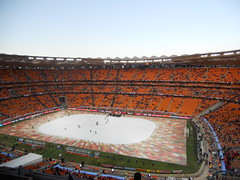 Closing ceremony stage at Soccer City