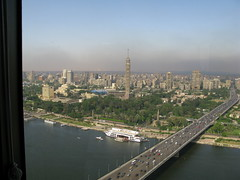 Pyramids of Giza from Downtown Cairo