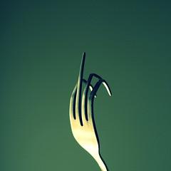 fork, macro photography, green, close-up,