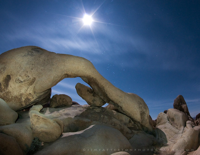 Under the Rising Moon - Arch Rock, Joshua Tree National Park, California