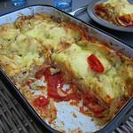 Lasagne mit geröstetem Fenchel und Tomaten