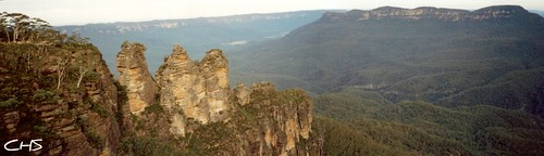 The Blue Mountains - The Three Sisters - Australia by Stocker Images
