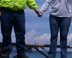 Happy Bench Monday from the Mackinaw Bridge!