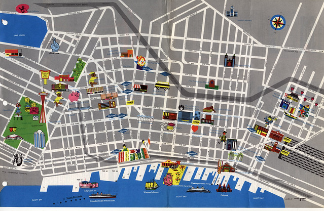 Seattle map – Tourist Attractions Map In Seattle