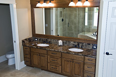 floor, furniture, countertop, room, bathroom cabinet, plumbing fixture, cabinetry, bathroom, flooring, sink,