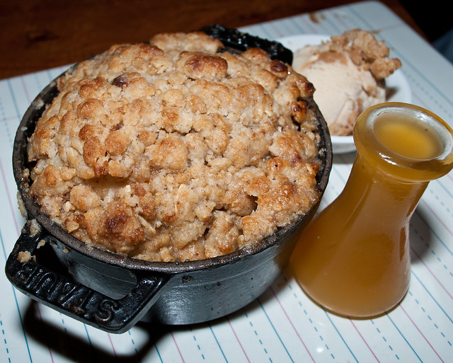 Hot Apple Cobbler with Caramel Syrup | Flickr - Photo Sharing!