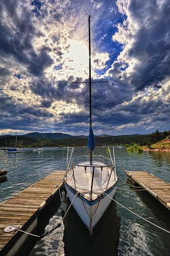 lake sailboat marina landscape pier boat dock nikon bravo sailing reservoir loveland deck co sail carter cloudscape 2010 topaz larimer nikon1735 d700
