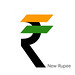 INDIA - NEW RUPEE SYMBOL - TRICOLOUR