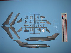 Airfix / USAirfix kit: decals, clear and silver parts.