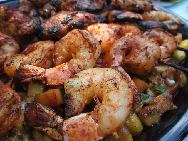 Yucatan-Marinated Chicken and Shrimp with Grilled Peach Salsa | Flickr ...