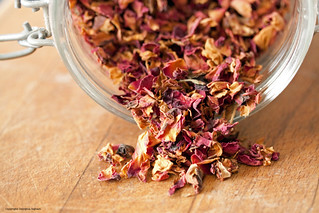 Georgina Ingham | Culinary Travels Photograph Jar of Rose Petals