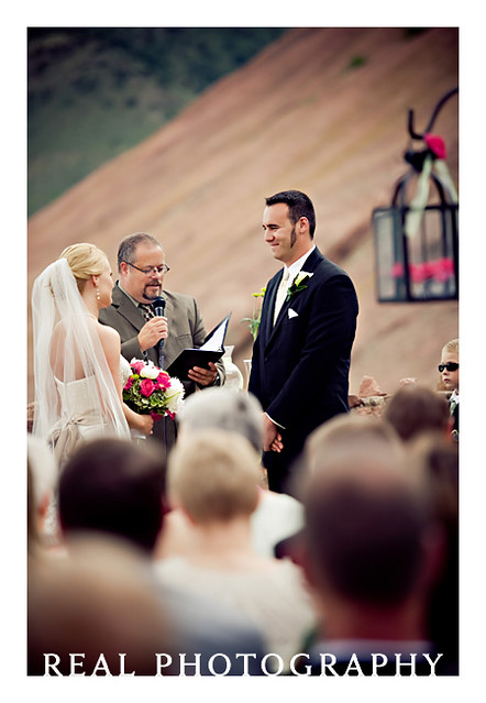 red rocks park trading post outdoor wedding ceremony