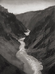 Yellowstone Canyon, Wyoming 1926, by E.O. Hoppe