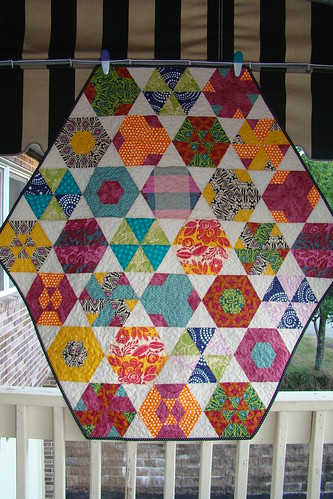 Finished Hexagon Quilt a long