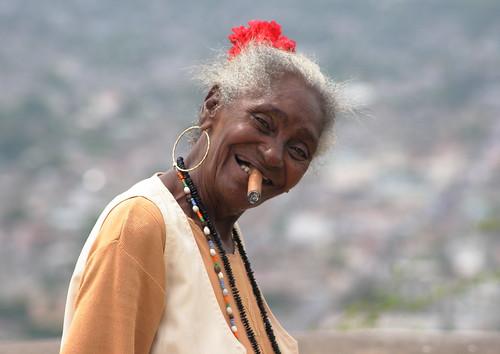 Old lady Holguin Loma de la Cruz Cuba by Stupidboypike1