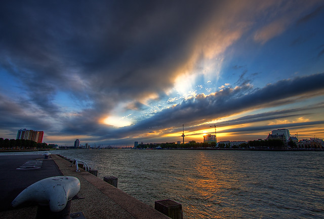 Sunset @ River Maas - Rotterdam