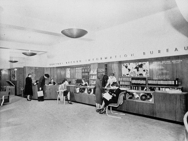 hmv 363 Oxford Street, London - Central Records Information Bureau 1950s